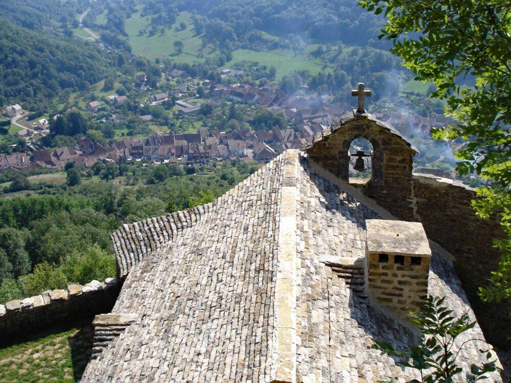 Conliège depuis l'ermitage Sainte-Anne