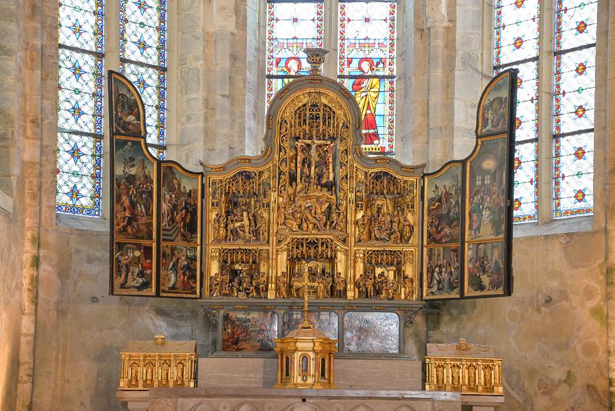 Le retable de l'abbaye