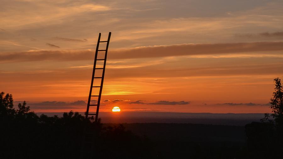 Coucher de soleil sur la Bresse depuis Frontenay