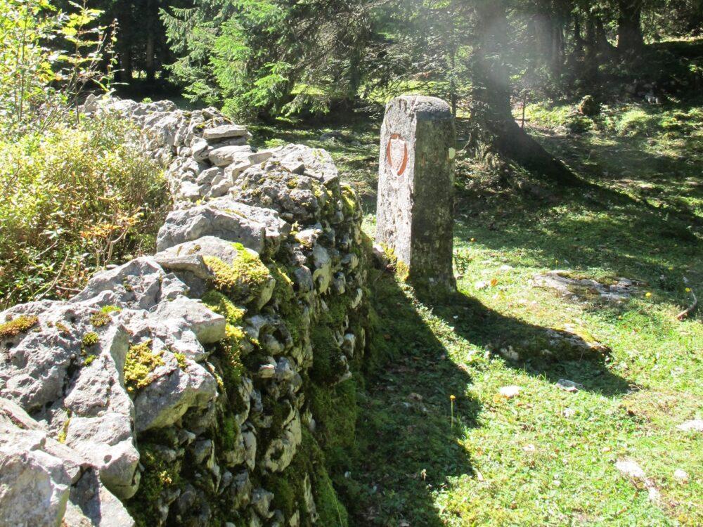 La frontière avant Chapelle-des-Bois