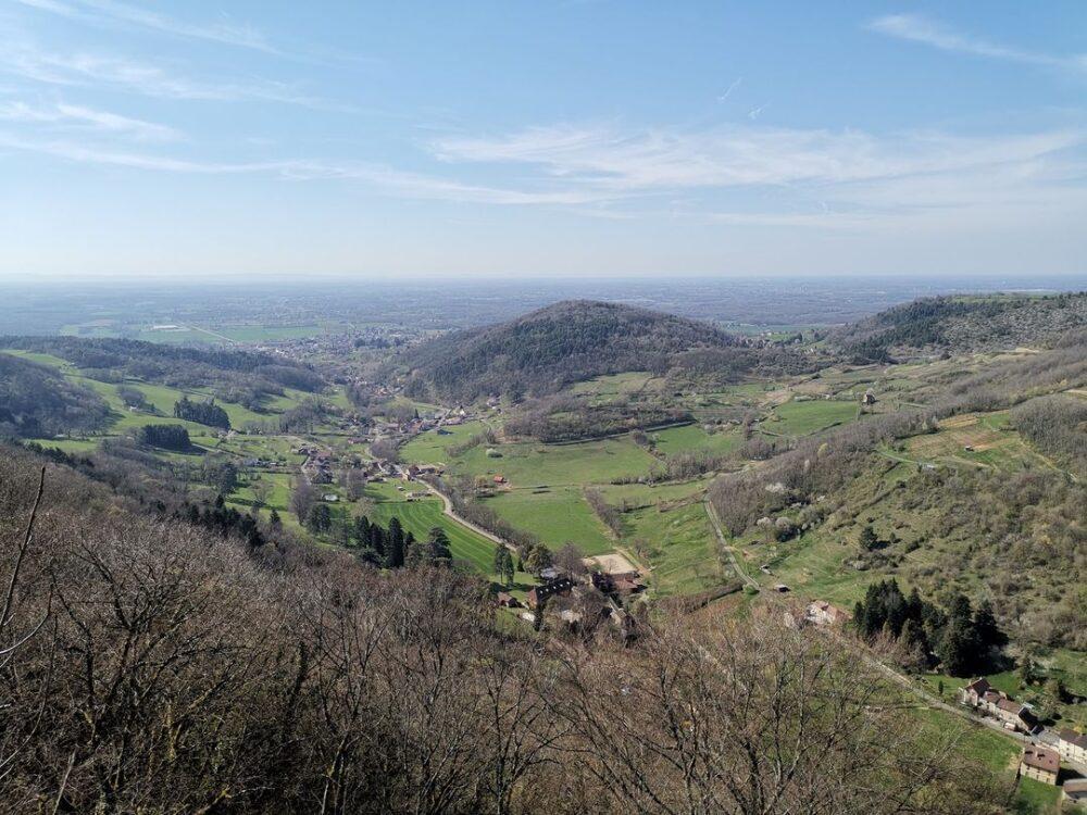 Vue sur Gizia, Cuisia et Cousance