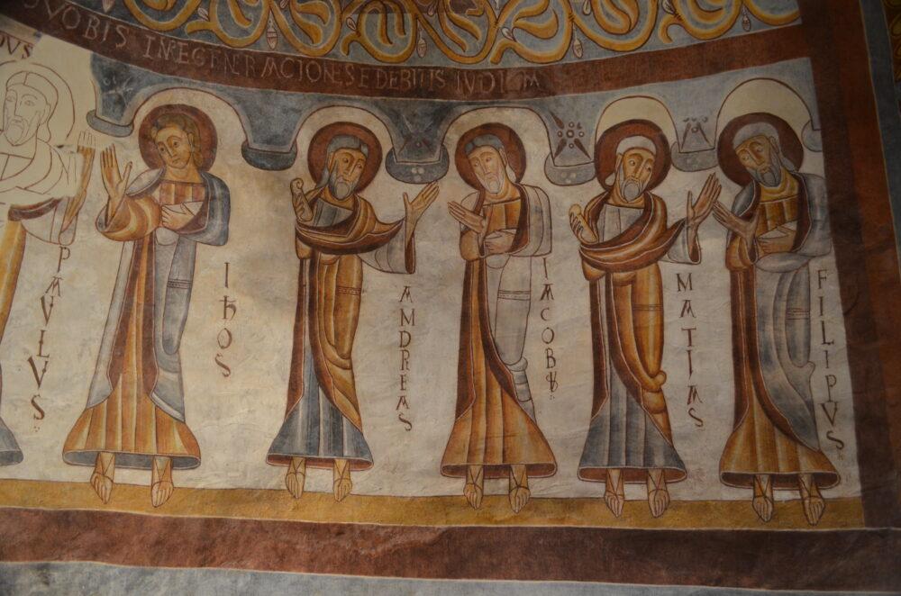 Le cortège d'apôtres