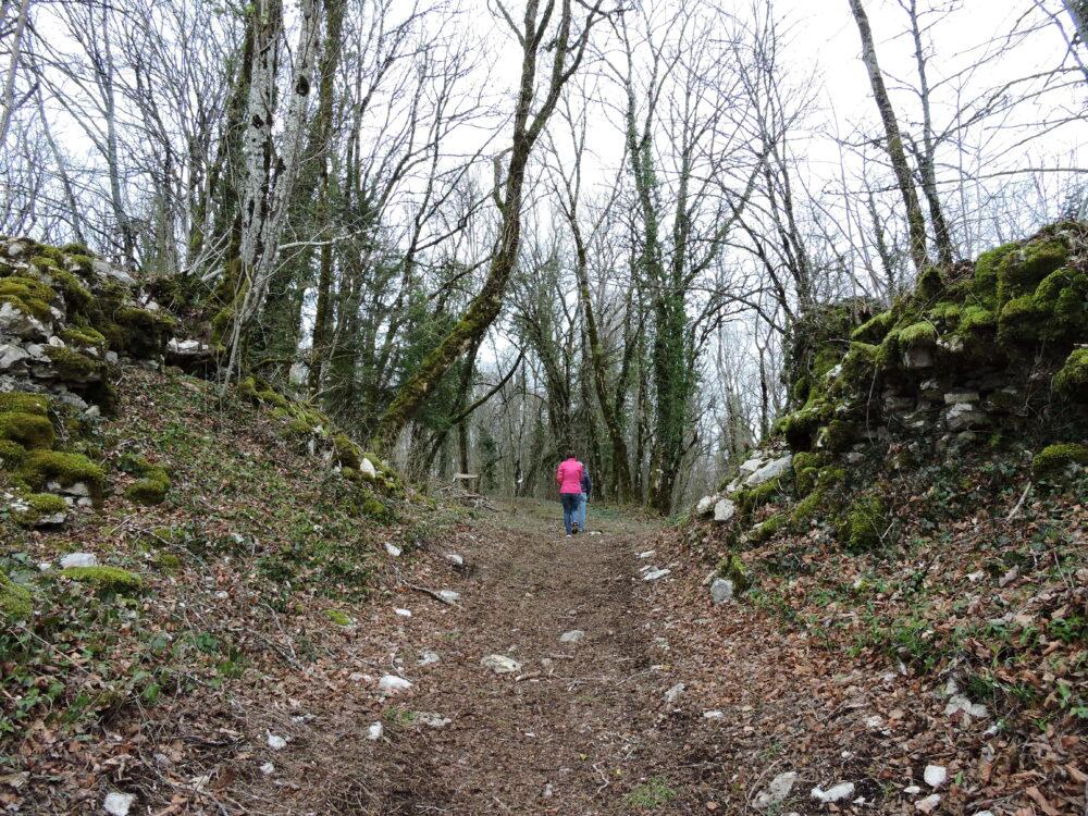 Un sentier aménagé pour accéder aux ruines du château et aux points de vue