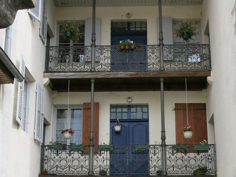 Balcons d'une maison de Nozeroy
