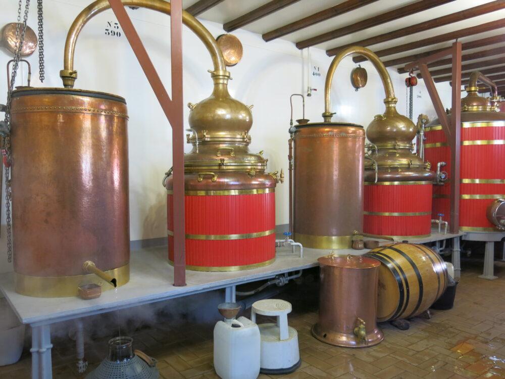 Les alambics de la distillerie Guy
