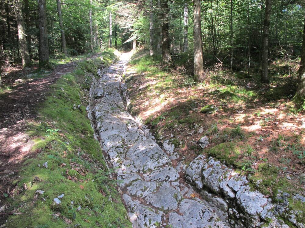 La voie romaine à Ballaigues