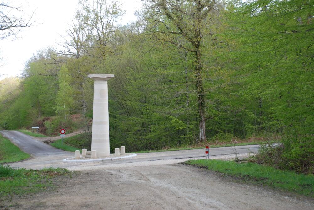 L'une des colonnes-guidon