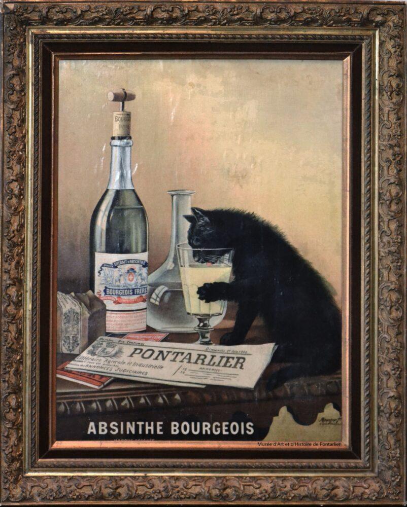 L'absinthe Bourgeois, par les frères Mourgues conservée au Musée d'Art et d'Histoire de Pontarlier
