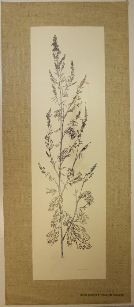 La Grande absinthe : lithographie de Pierre Buchet conservée au Musée d'Art et d'Histoire de Pontarlier