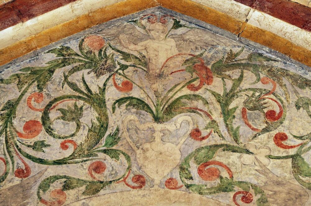 Détail des fresques du prieuré