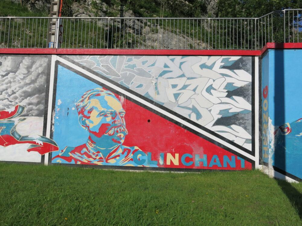 La fresque des Bourbakis à La Cluse et Mijoux